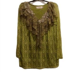 Pretty Angel Boho Lace Shirt (Size M).